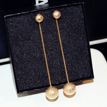 New  Korean long balloon ball chain earrings bohemian luxury earings fashion jewelry chandelier indian