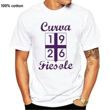 Camiseta girocollo ultras j832 curva fiesole 1926 viola calcio vintage cori
