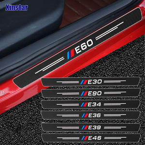 4pcs Carbon Fiber Performance Car Bumper Sticker For BMW E30 E36 E39 E46 E60 E87 E90