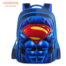 3D Superman Batman Spiderman Captain America kinder rucksack jungen grundschule Kindergarten Infantil Kinder Mochila(China)