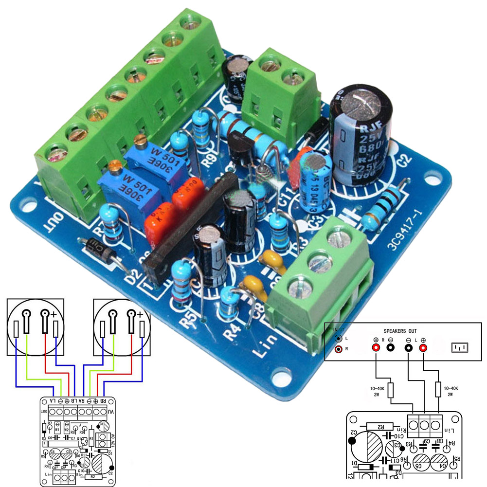 DC 12V VU Meter Driver Board Audio Power Amplifier Level Meter Drive Module AS99