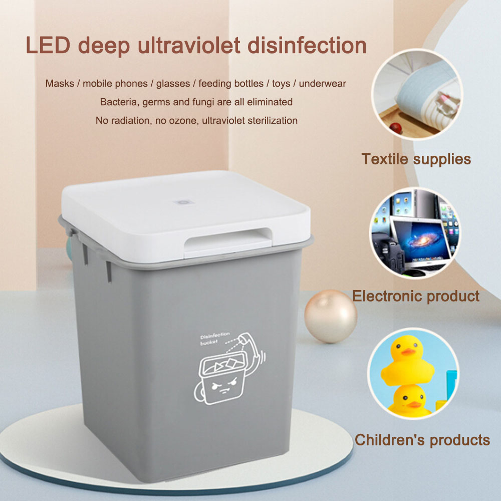 LED UV Dis-infection Bucket USB Rechargeable UV Clothes Disinfection Bag For Baby Bottle Toys Toothbrush Beauty Tools