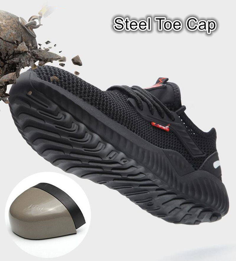 Breathable Safety Shoes Men's Work Boots Steel Toe Cap Puncture-Proof Indestructible Security Shoes Light Comfortable Sneakers 3
