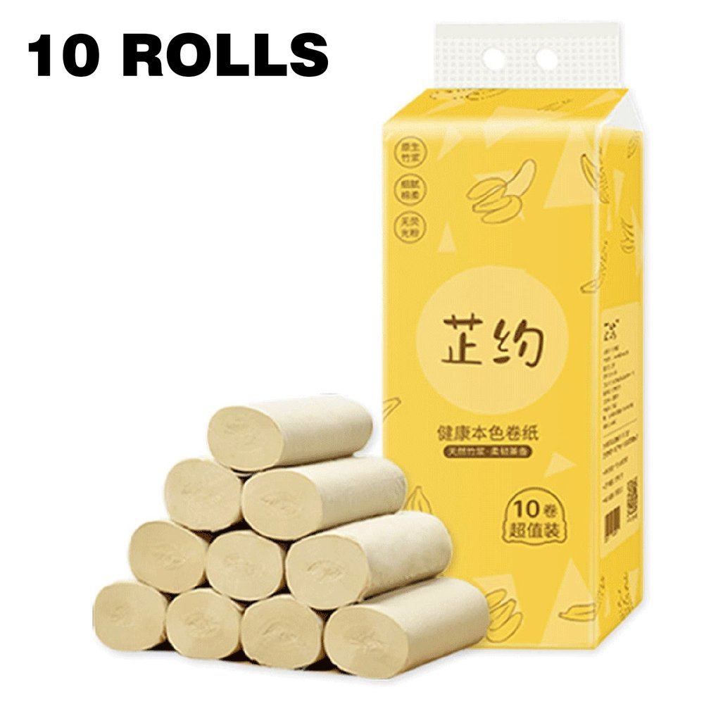 Natural Bamboo Paper Soft And Thick Three Layers Original Wood Pulp Fine Breakpoint Leveling And Line Pressing 10 Pcs
