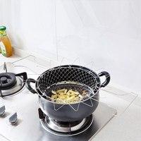 Panier à friture pliable, tamis en acier inoxydable, passoire à mailles, filtre à vapeur pour le rinçage, outils de cuisson, accessoires de cuisine 3