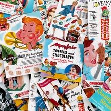 67 Uds. Cartel de caramelo creativo vintage pegatinas decorativas de álbum de recortes pegatina DIY álbumes de fotos artesanales