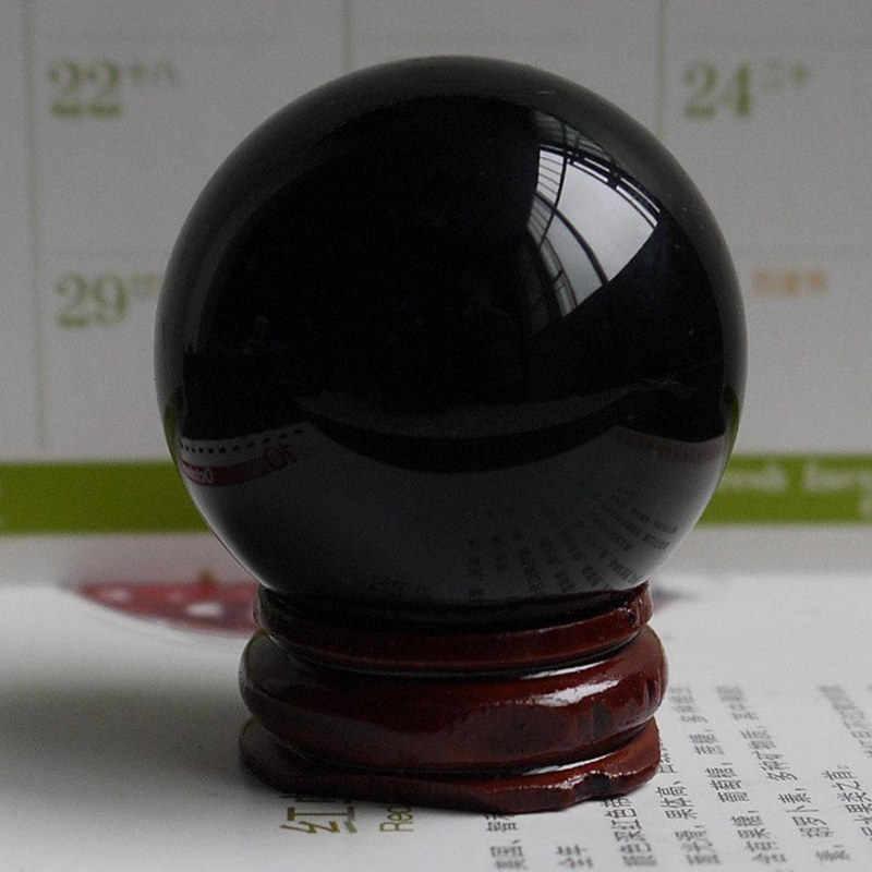 黒曜石の水晶玉スタンドオフィス家の装飾の寝室リビング黒治癒クリエイティブ球