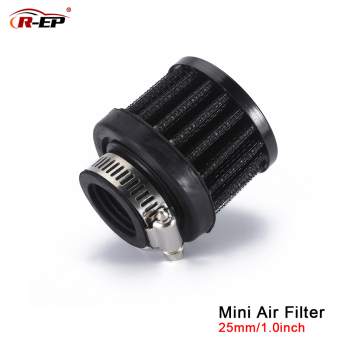 R-EP Universal 25mm Car Air Filter Clip-On Auto Round Conical Cold Intake 1inch Mini Air Filters image