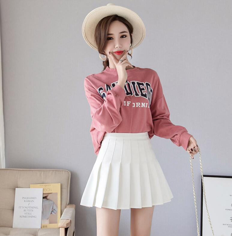 H0535cc7d92414c67abf1edc4c61345d6E - Sexy Women Pleated Skirt Lovely Girl School Uniform Skirt Solid High Waist Mini Skirts Cute Female Pleated Mini Skirts