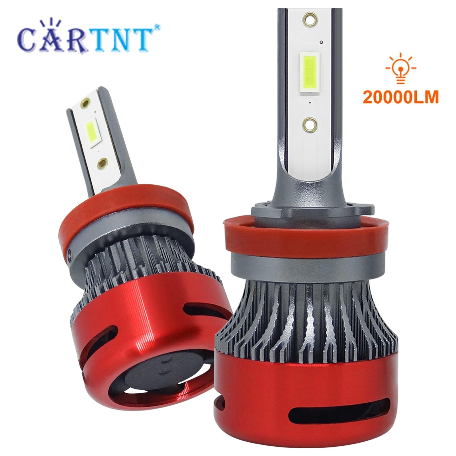 CarTnT 2 шт. супер яркий HB3 светодиодный лампы 20000LM 150 Вт Автомобильные Лампы 9012 H7 H8 H11 H1 H3 9005 9006 HB3 HB4 H13 Автомобильный светодиодный лампы для передн...