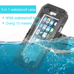 Image 2 - Diving Waterproof Case For iPhone 11 Pro Max X XS Max XR 7 8 6 6S Plus 5 SE Case Sport Bicycle Stand Heavy protection Cover Case