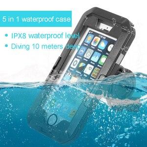 Image 2 - Funda impermeable de buceo para iPhone, funda resistente al agua para iPhone 11 Pro Max X XS Max XR 7 8 6 6S Plus 5 SE, soporte deportivo para bicicleta