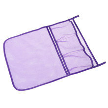 Hot sale 1Pc mesh cloth Baby Bed Hanging Storage Bag Crib Organizer Toy Diaper Pocket For Cradle Bedding(China)