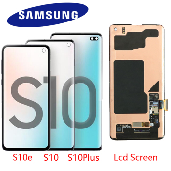 100% original display lcd para samsung galaxy s10e s10 display lcd g9730 s10 + mais display g9750 tela de toque digitador assembléia