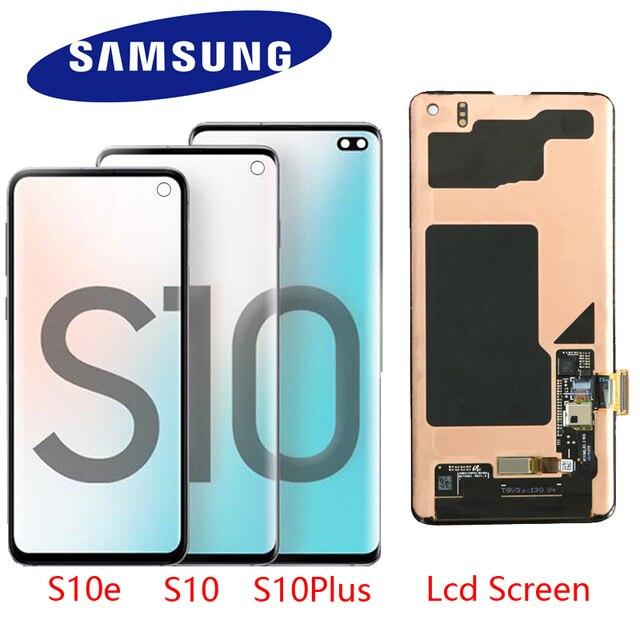 100% original display lcd para samsung galaxy s10e s10 display lcd g9730 s10 + mais display g9750 tela de toque digitador assembléia