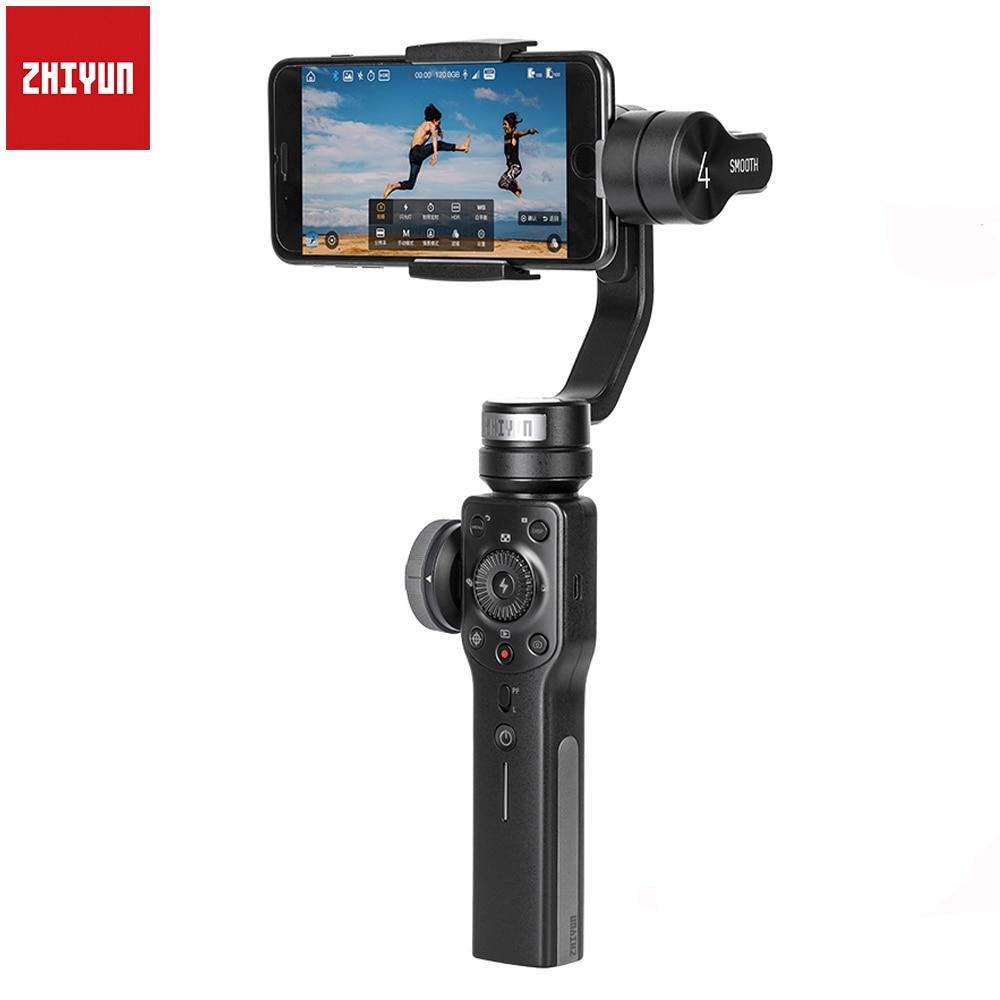 Zhiyun Suave 4 Q 3-Eixo Smartphones Handheld Cardan Estabilizador para iPhone XS XR X 8Plus 8 7P 7 Samsung S9 S8 S7 & Action Camera