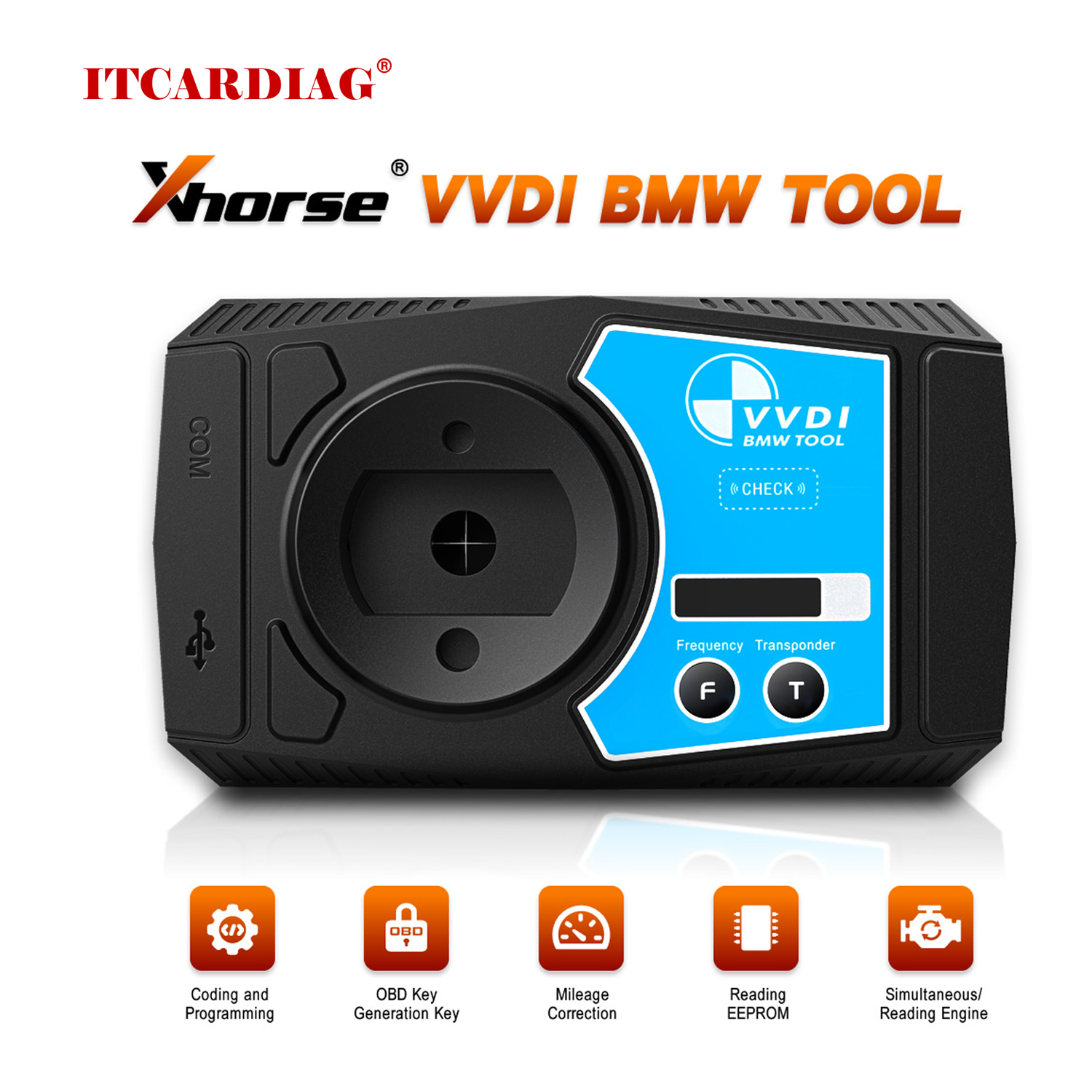 Xhorse VVDI For BMW V1.4.6 Car Key Programmer E/F/G Chassis Diagnostic Coding and Programming Tool Covers Function of VVDI 2