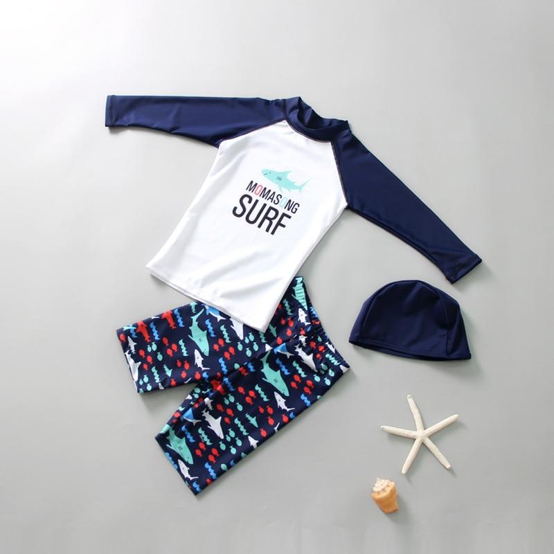 2019 Children Split Type Swimsuit Male Baby Bubble Hot Spring Swimsuit For Boys Handsome Cute Sports Split Type Suef
