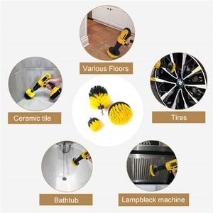 Image 3 - 3Pcs/Set Electric Scrubber Brush Drill Brush Kit Plastic Round Cleaning Brush For Carpet Glass Car Tires Nylon Brushes 2/3.5/4