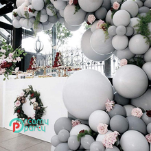 100 Uds. 5/10/12 pulgadas globos grises de alta calidad nudo mate decoración de fiesta de cumpleaños lugar centro comercial Festival evento globo adulto
