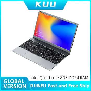 KUU 14.1 Inch 8GB DDR4 RAM 256G 512G SSD Windows 10 laptop Intel J4115 Quad core Full size Keyboard Student Notebook - DISCOUNT ITEM  20 OFF Computer & Office