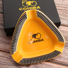 COHIBA Cigar Gadgets Home Ashtray Portable Ceramic 3 Cigars Ash Tray Tobacco Cigarette Ashtrays Holder