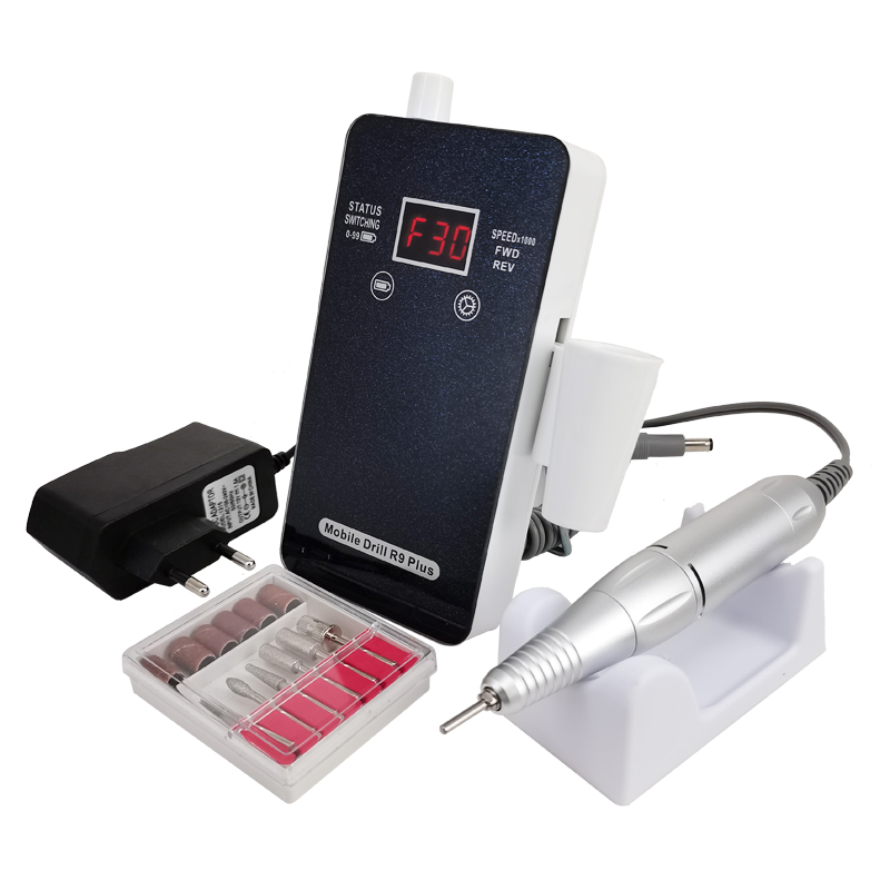 2020 New Arrival new technology tempered panel with Touch Switch portable rechargeable Electric Nail Drill Machine nail tools