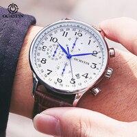 OCHSTIN למעלה יוקרה מותג גברים עסקים עלה שעונים הכרונוגרף עמיד למים קוורץ אנלוגי שעוני יד זכר שעון Relogio Masculino