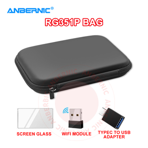 ANBERNIC - RG351P Bag Case Shell Glass Tempered Screen Protector RG351P RG351 Handheld Console Game Player Accessory Wifi Module