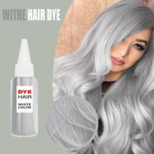 Diy Silver Hair Dye Cream Gray Woman Hair Color Paint For Hair Bright Coloring Hair Hairdressing Unisex Natural Long Lasting