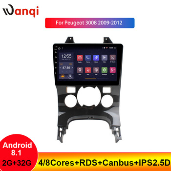 9INCH 2+32G Car Radio Android For Peugeot 3008 2009-2012 Android 8.1 GPS Navigation Multimedia Player Support WiFi SWC BT NO DVD image