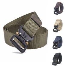 цена на Tactical Gear Combat Belt Metal Buckle Adjustable Men Belt Military Waist Support Sport Belt Length 125cm