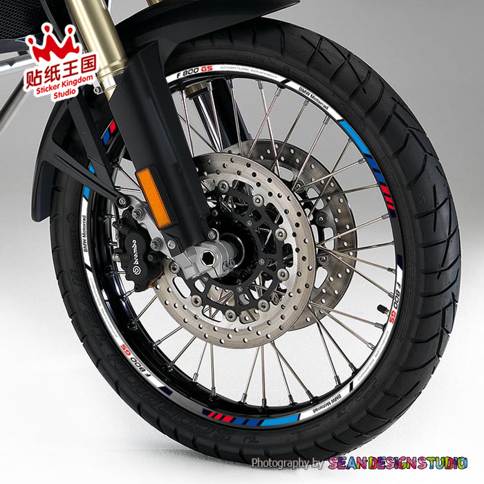 For BMW F700GS F800GS Motorcycle Wheel Sticker Decal Reflective Rim Bike Suitable