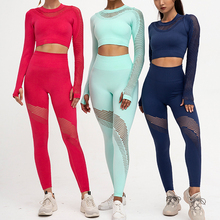 Long Sleeve Yoga Sets 2 Piece Set Women Outdoor High Waisted Sports Suit Long Sleeve Top Active Wear Sports Wear for Women Gym outdoor sports three piece set women yoga sets for gym running jacket