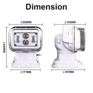 Image 5 - 7 אינץ 360 תואר שלט רחוק 4D Led חיפוש אור 60w זרקור ימי ספוט פנס לסירות רכב רכב מכביש 1PCS