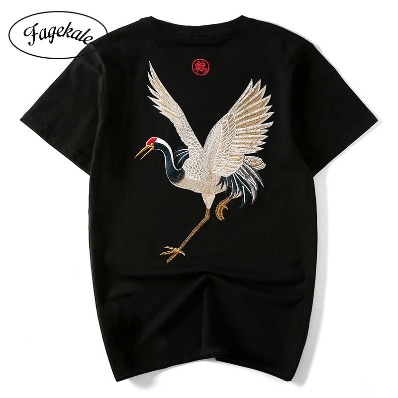 2020 Новая Летняя мужская футболка с коротким рукавом, этнический стиль, хлопковая вышивка, кран