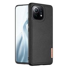 For Xiaomi MI 11/11 Pro/11 Lite 5G 4G Case DUX DUCIS Fino Series Woven Fabric Protecting Back Case Cover Top TPU+PC+PVC+NYLON