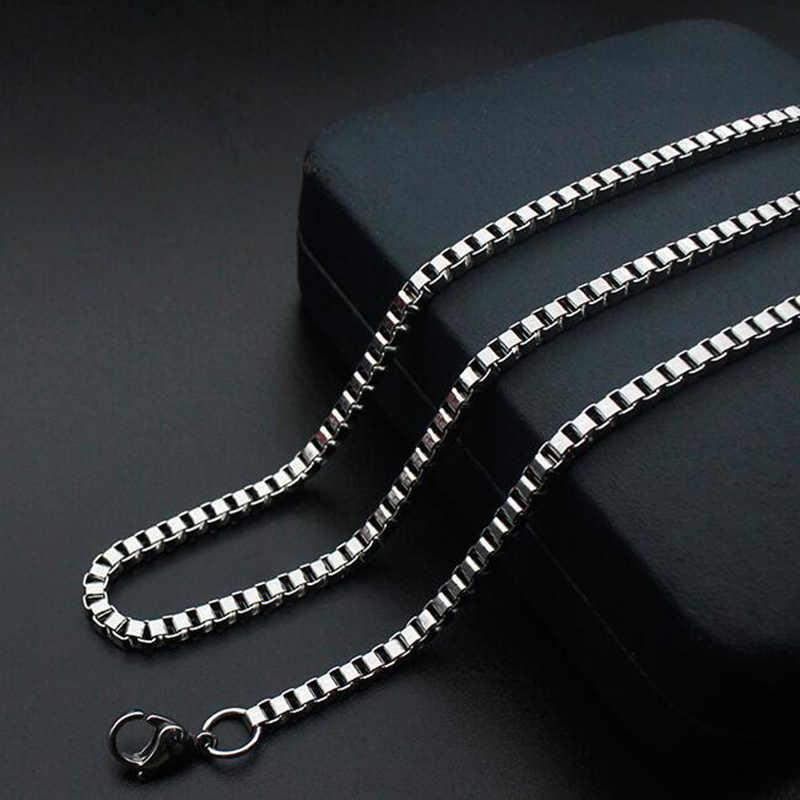 ELSEMODE 1.5mm/2.0mm/2.5mm/3.0mm złota ze stali nierdzewnej kwadratowe pudełko łańcuch wysokiej jakości naszyjnik dla mężczyźni kobiety akcesoria hurtownie