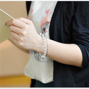 Image 5 - Natural Crystal 0.8cm  Rock Crystal White Quartz Beads Tibetan Buddha Prayer Mala Bracelet For Woman Buddhist Jewelry