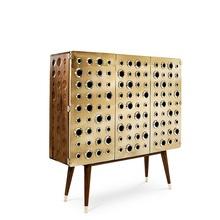 120cm wysokie deski boczne z szafką na alkohol złocenie satynowa stalowa powierzchnia z drewnianymi nogami kasztanowa szafka z twardego drewna tanie tanio Meble do salonu Stół konsoli Meble do domu