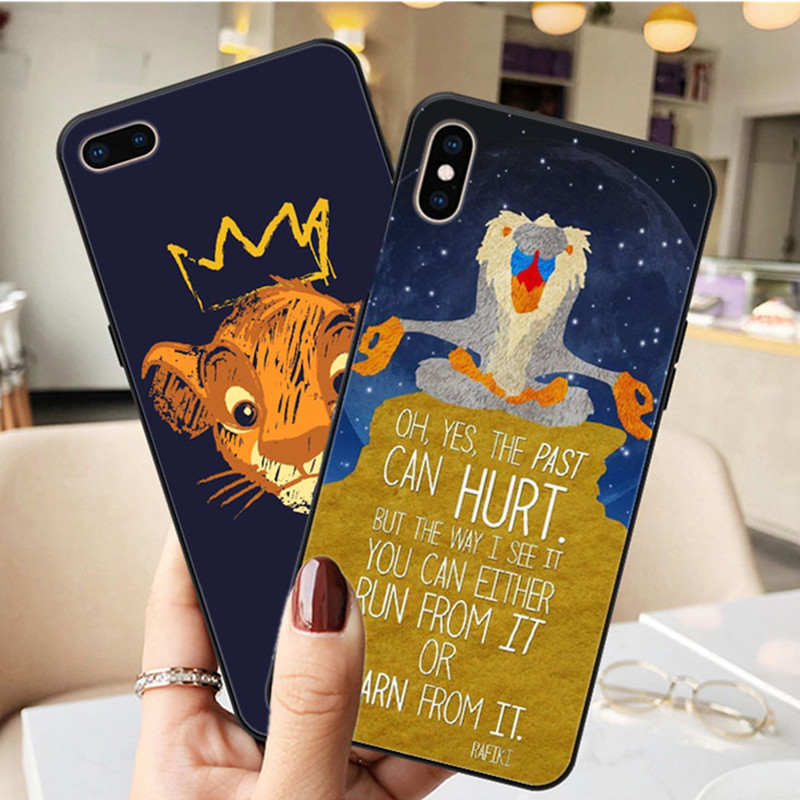 <font><b>lion</b></font> <font><b>king</b></font> 2019 Simba nala Silicone Phone <font><b>Case</b></font> Cover for <font><b>iPhone</b></font> 7 8 6s Plus X XS MAX 5S SE XR 11 Pro Max 2019 soft cover Coque image