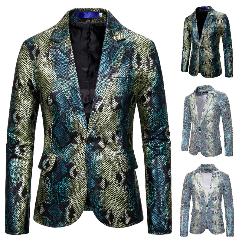Diversification Design Men Fashion Nightclub Bar Party Suits Casual Male Slim Fit Stage Performance Blazer Jacket Men's Talicoat
