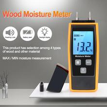 Professional Wood Moisture Humidity Meter Digital Tester 0%~80% Two Pins Large LCD Display with Back Light Temperature RZ660 hygrometers hot md7820 digital wood moisture meter tester temperature meter humidity