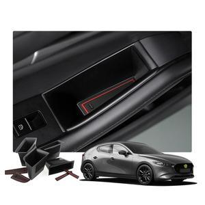 Image 1 - RUIYA 자동차 사이드 도어 스토리지 박스 For Mazda 3 4th/Mazda CX 30 2019 오른쪽 방향타 차량 도어 핸들 스토리지 액세서리 블랙