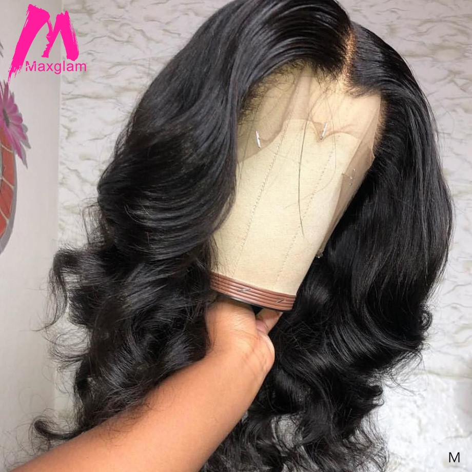 Lace Front Human Hair Wigs Body Wave Brazilian Short Natural Long Lace Frontal Wig Remy Hair Pre Plucked For Black Women 130%