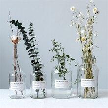 Минималистичные шикарные стеклянные банки для хранения скандинавские Vogue элегантные прозрачные настольные бутылки для хранения Органайзер ваза для цветов Декор