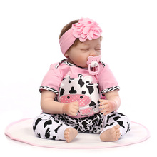 NEW 46CM Baby Reborn Doll Lifelike Soft Silicone Reborn Baby Dolls Adorable Sleep Realistic Bonecas Doll TOY Birthday  Gifts 17 inch lifelike reborn lovely baby doll laugh soft realistic reborn baby playing toys for kids christmas gifts bonecas