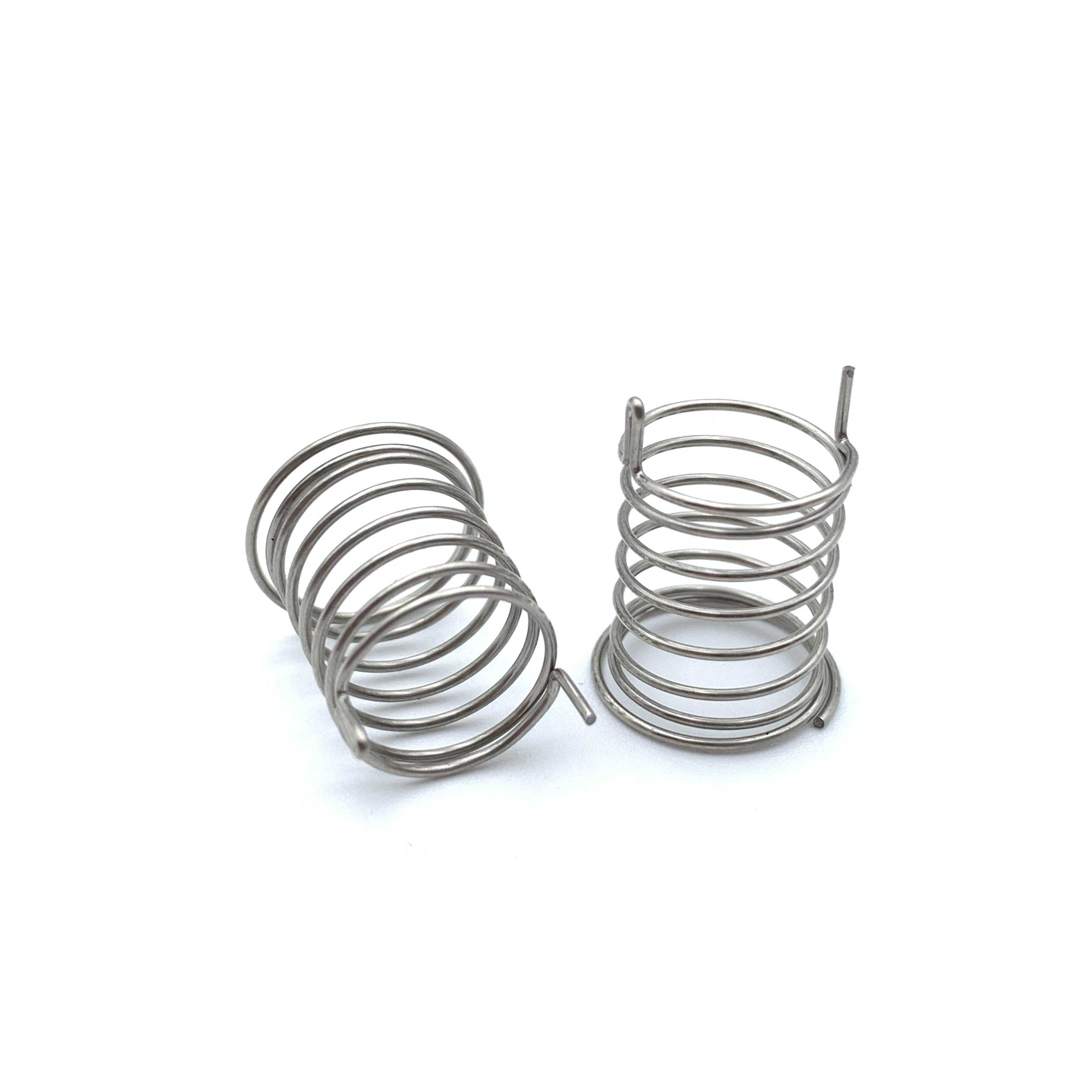 Oem นิกเกิลชุบสแตนเลสสตีลรูปกรวยขนาดเล็ก coil touch ฤดูใบไม้ผลิกับเครื่องแทรก