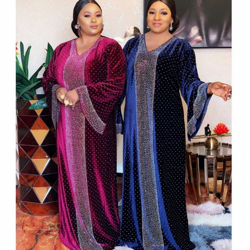 African Dresses For Women Plus Size Dashiki African Clothes Abaya Dubai Muslim Dress Robe Africa Dress Loose Long Maxi Dresses