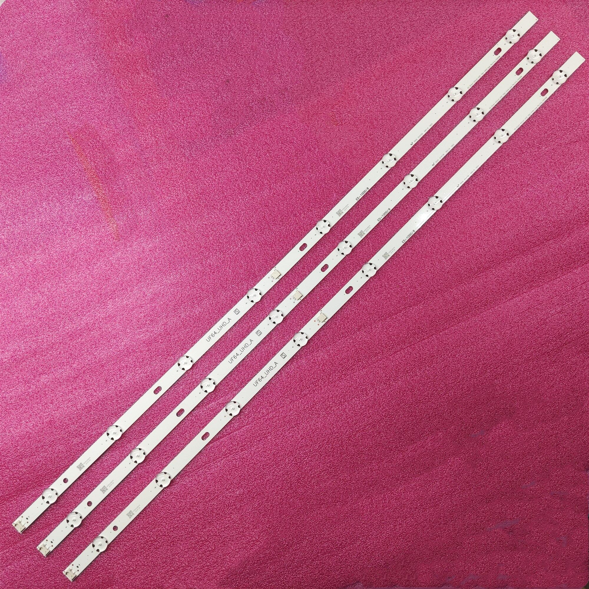 3 PCS tira retroiluminação LED para LG 43UF6407 43LH604V 43UH610V 43UH603V 43UH620V 43UH610A 43LH5700 43LH60_FHD_A Tipo UF64_UHD_A
